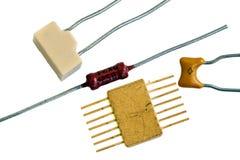 Old radio components Stock Photo