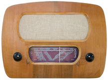 Old radio cutout royalty free stock image