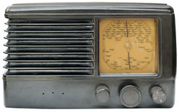 Old radio cutout Royalty Free Stock Photo