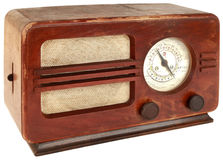 Old Radio Cutout Stock Photo