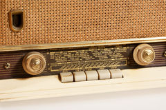 Old radio detail. Old radio device detail close up Royalty Free Stock Photo