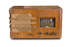 Old radio device. On the white background Royalty Free Stock Photography