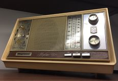 Vintage brown dial radio Stock Images