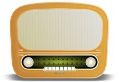 Old radio. An old radio from the fifties Royalty Free Stock Images