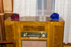The old radio in the former country of the Soviet leaders ( Stal Royalty Free Stock Photo