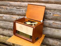 Old radio-gramophone. XX centure, 50th Royalty Free Stock Photography