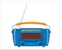 Old radio. Illustration of an old radio antenna Stock Photo