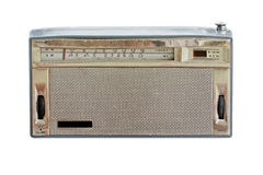 Old radio isolate Stock Photo