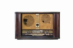 Old radio isolated Stock Image