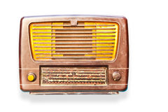 Old radio isolated Royalty Free Stock Photos