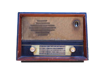 Old radio isolated Royalty Free Stock Image