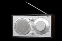 Old radio isolated on black Royalty Free Stock Image