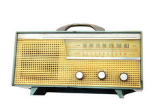 Old radio isolated, clipping path Stock Photos