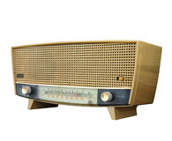 Old radio isolated, clipping path Stock Images