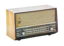Old radio isolated Stock Photography