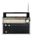 Old radio isolated on a white background with clipping path.  Stock Photography