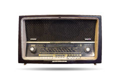 The old radio isolated Royalty Free Stock Images