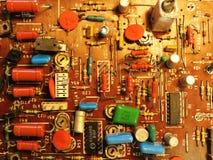 Old radio microchip Stock Image