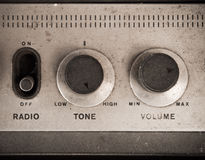 Old radio panel Royalty Free Stock Photos