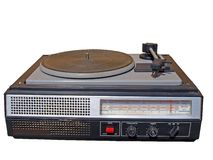 Old radio player Royalty Free Stock Image