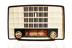 Old radio player on white background. Stock Photos