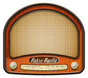 Old radio. Realistic retro radio, isolated on white. EPS10 Stock Photos