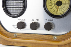Old Radio receiver. With controls Royalty Free Stock Image