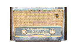 Old radio receiver of the last century isolate Stock Images