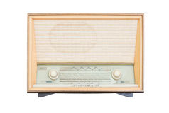 Old radio receiver of the last century isolate Stock Photo
