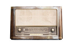 Old radio receiver of the last century isolate Royalty Free Stock Image