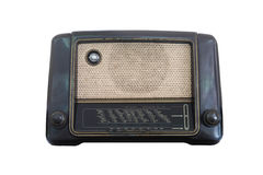 Old radio receiver of the last century isolate Royalty Free Stock Photo