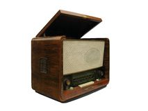Old radio receiver and record-player Royalty Free Stock Image