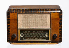 Old Radio. An old retro-style radio from the 1950's isolated on white background Royalty Free Stock Photo