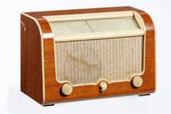Old Radio. An old retro-style radio from the 1950's isolated on white background Royalty Free Stock Photography