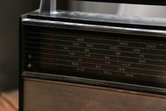 Old radio retro style stock photography
