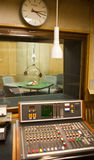 Old radio studio inside Royalty Free Stock Image