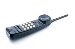 Old radio telephone. On  white background Royalty Free Stock Image