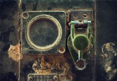 Old radio transmitter Stock Photo