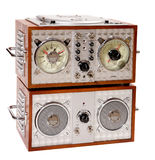 Old radio tuner Stock Image