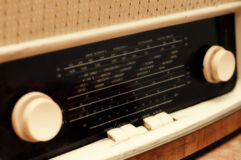 Old radio tuner Royalty Free Stock Photos