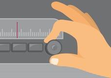 Old Radio Tunning Royalty Free Stock Image