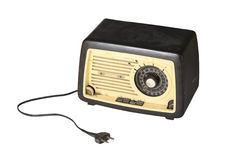 Old radio unplugged Royalty Free Stock Image