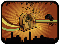 Old radio vector composition Royalty Free Stock Image