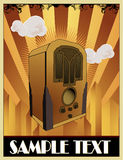 Old radio vector composition. Illustration over a color background Stock Photography