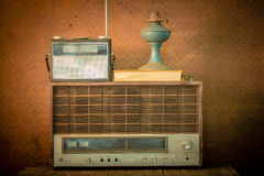Old radio in vintage style Royalty Free Stock Images