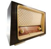 Old Radio. Vintage radio on white background Stock Photo