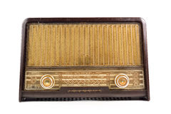 Old radio on a white background. Stock Photography