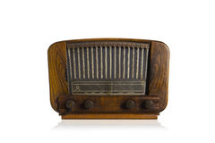 Old radio on white background Stock Images