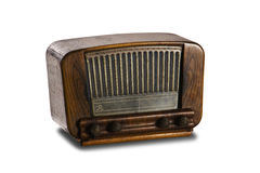 Old radio on white background Royalty Free Stock Image