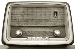 Old radio on white background Stock Photos